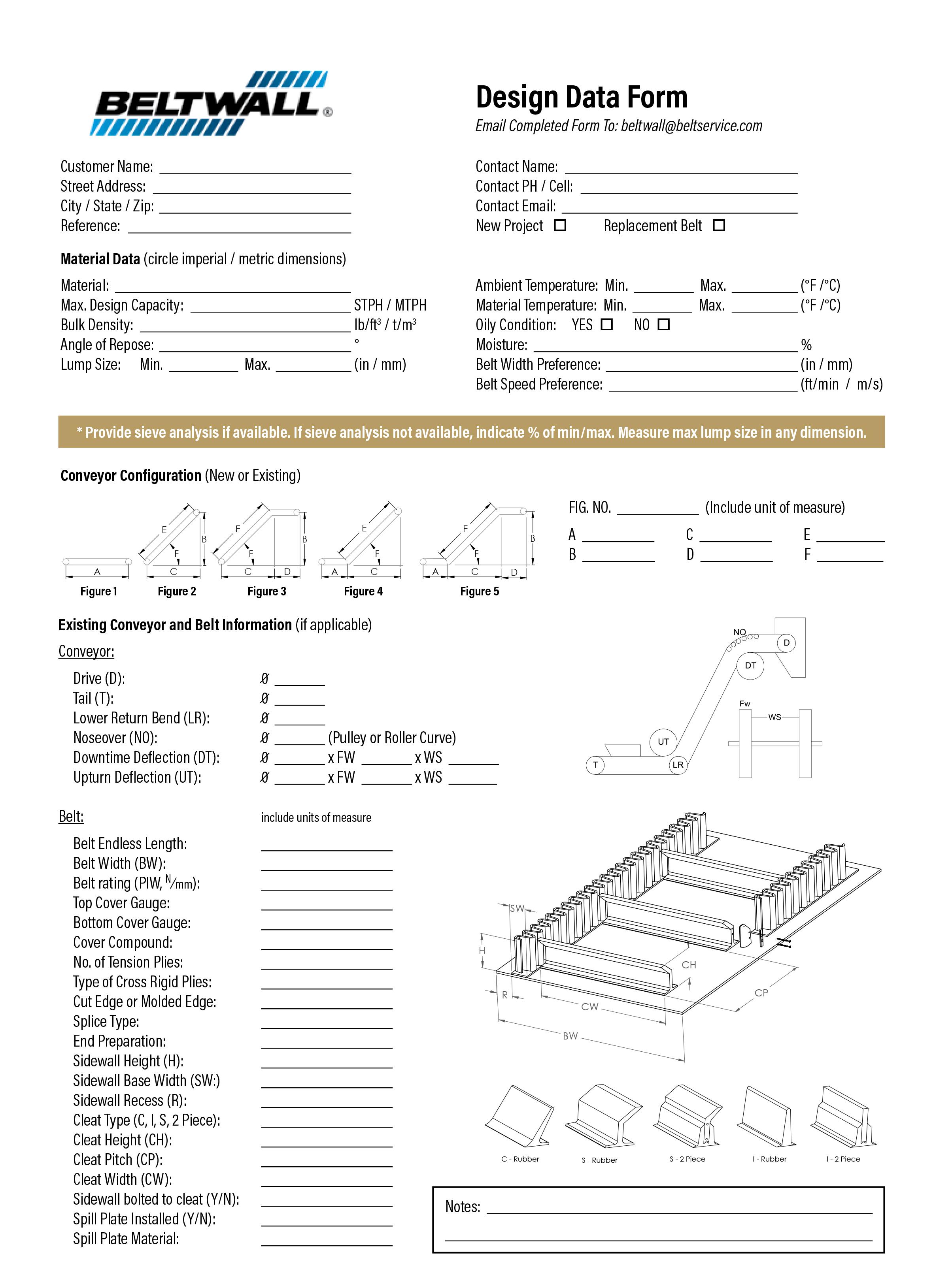 Beltwall - Design Worksheet PDF