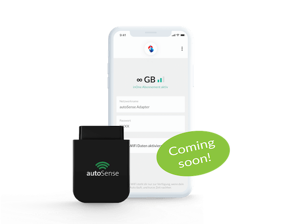 autoSense Connect - Connect your car with your Swisscom inOne subscription.