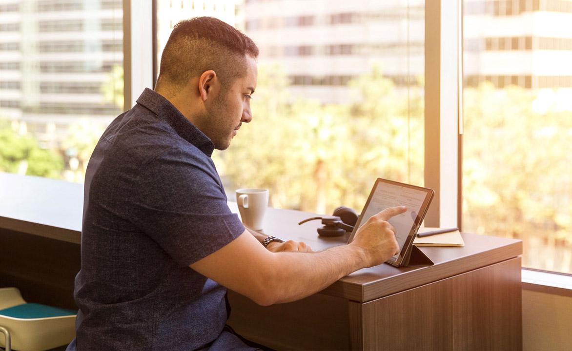 Man Watching iPad