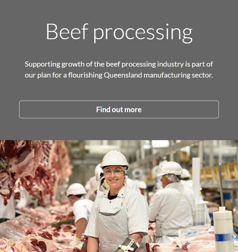 Queensland Priority Industries - Beef Processing