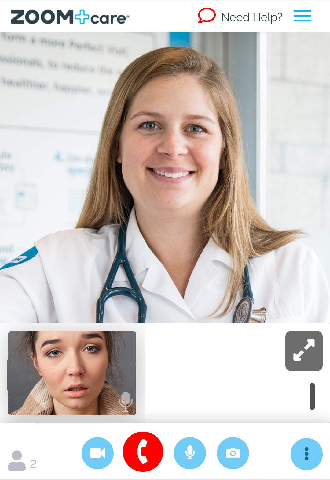image of four doctors in a grid looking forward and smiling