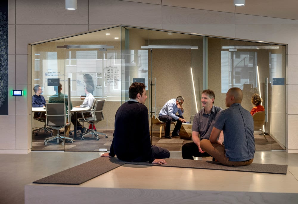 These new Seattle offices feature plenty of space to collaborate. Image courtesy of Bill Timmerman.
