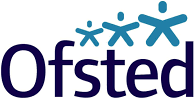 The logo for Ofsted, the childcare regulator in the UK
