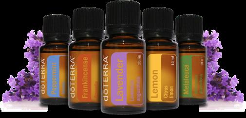 doTERRA Peppermint, Frankincense, Lavender, Lemon, Melaleuca Oils