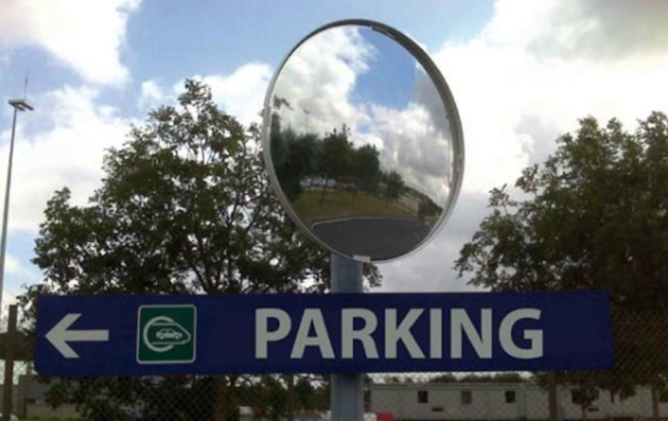 Multi-Purpose Post Mounted Mirror