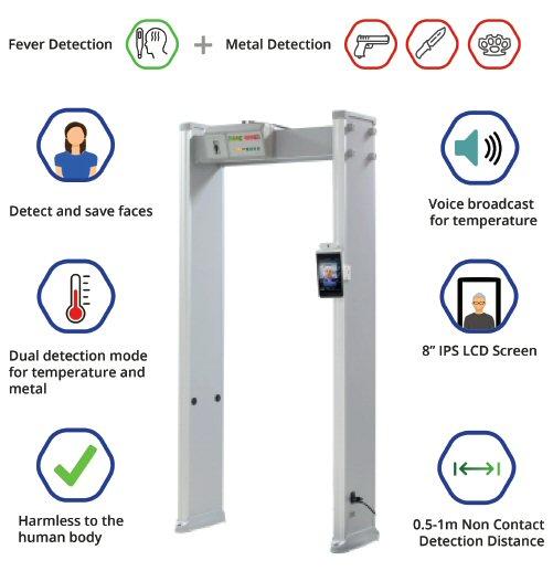 WG 320 Walk Through Fever Detector & Metal Detector