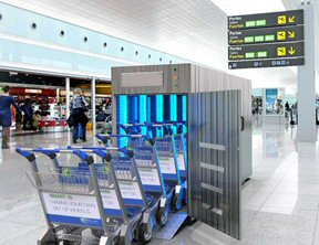 UV-C Airport Baggage Trolley Decontamination