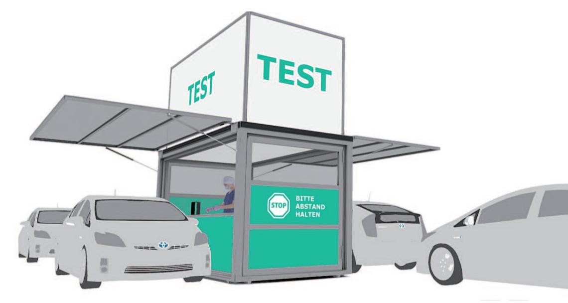 Mobile COVID-19 Testing Pod