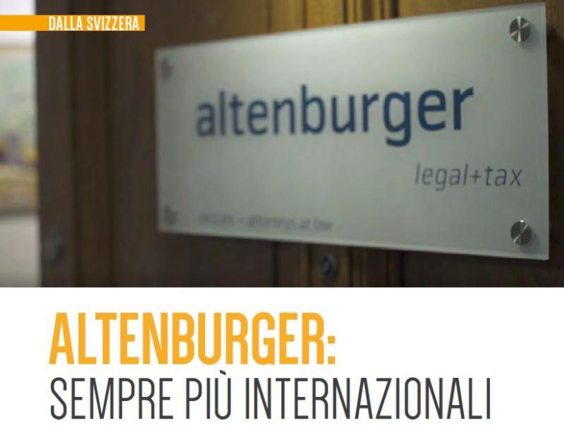 Altenburger: Sempre più internazionali