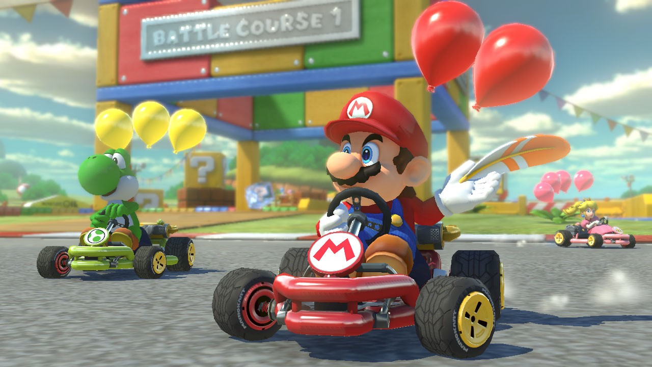 Image from the game Mario Kart 8 Deluxe