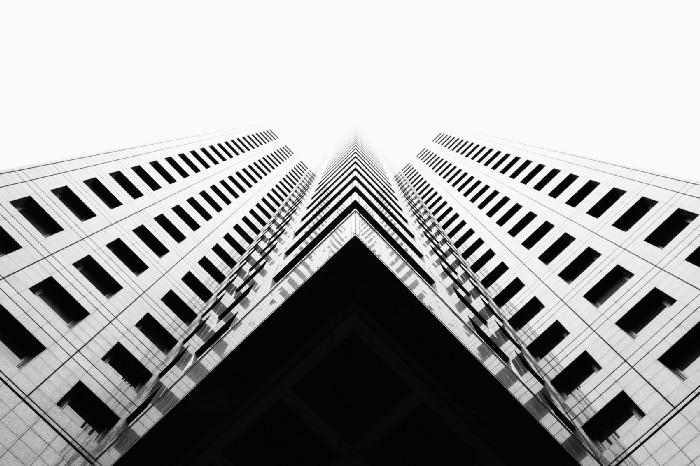 Skyscraper seen from below