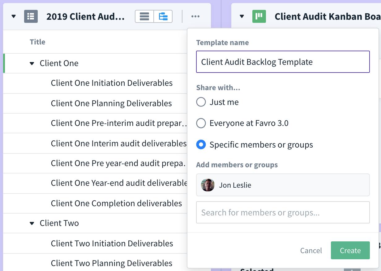 audit backlog final template demo