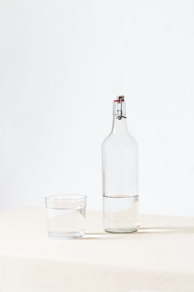 A bottle on a table