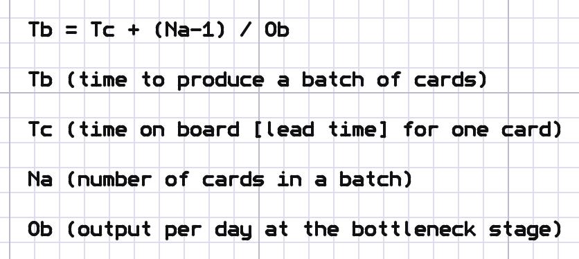 time consumption formula