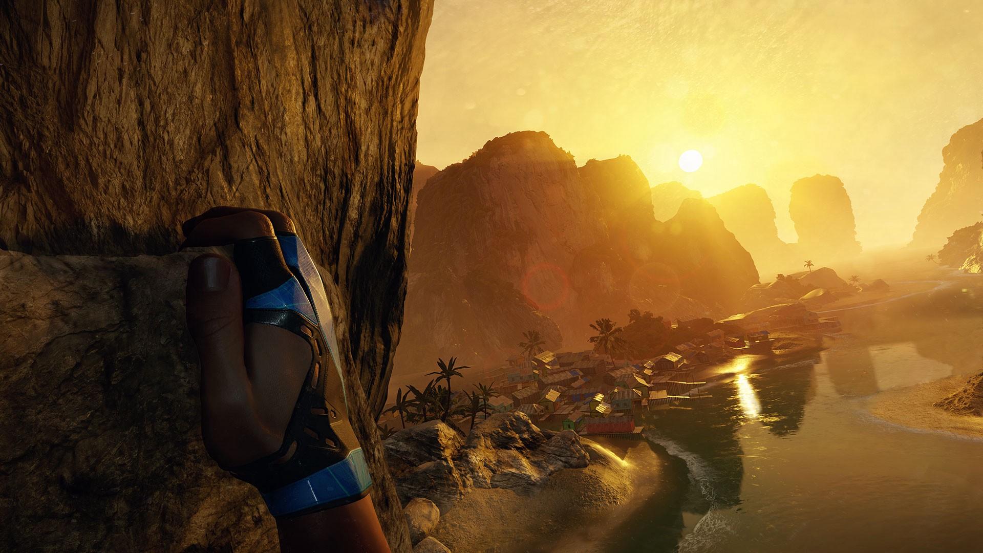 climbing to sunset