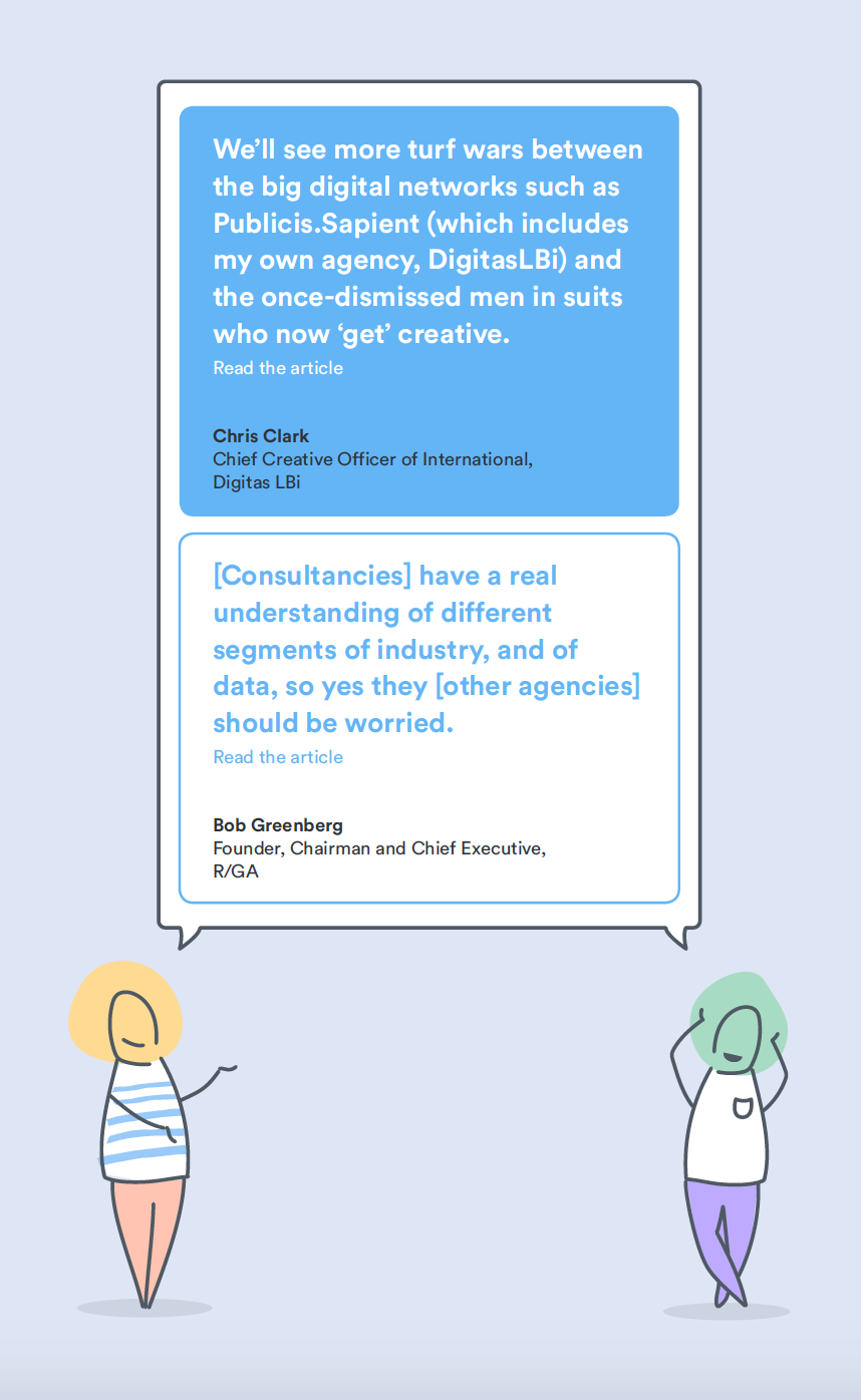 quote collection on the agencies and digital networks