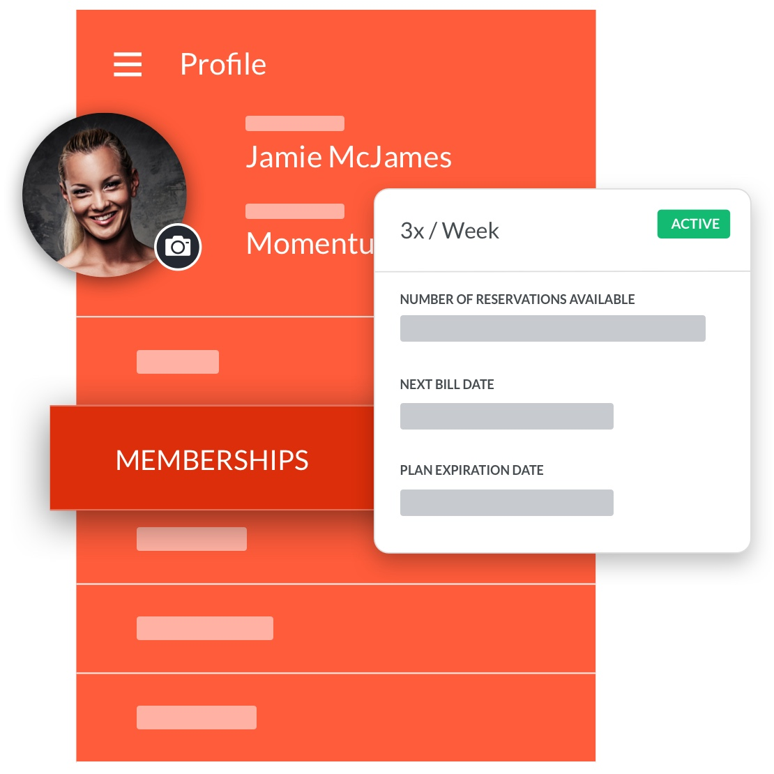 spin studio software member profile management