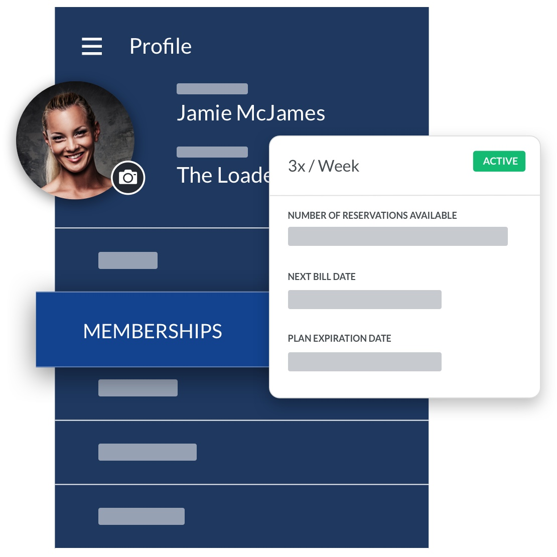 barbell club software member profile management