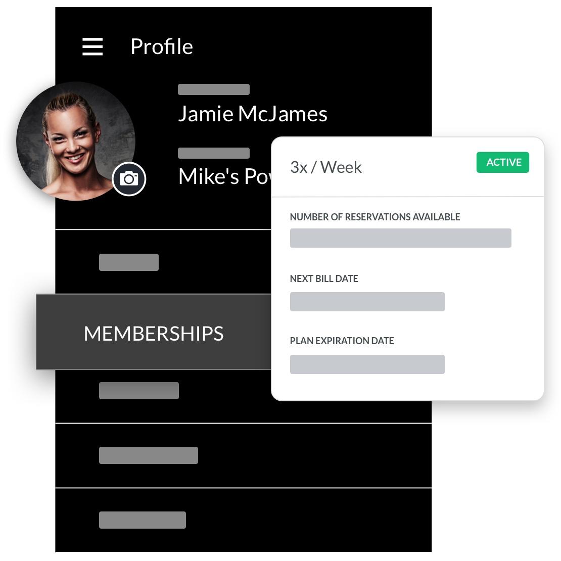 boxing gym software member profile management