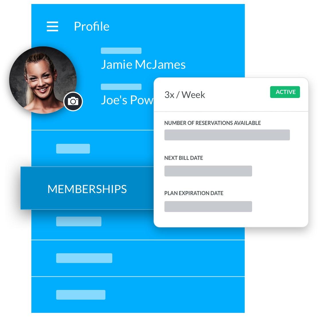 bodybuilding gym software member profile management