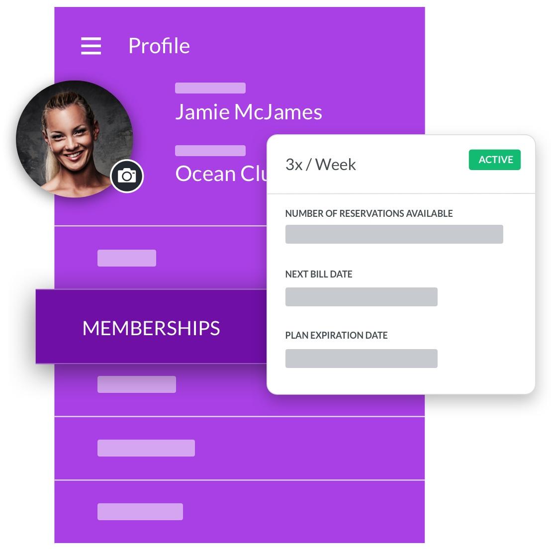 zumba instructor software member profile management