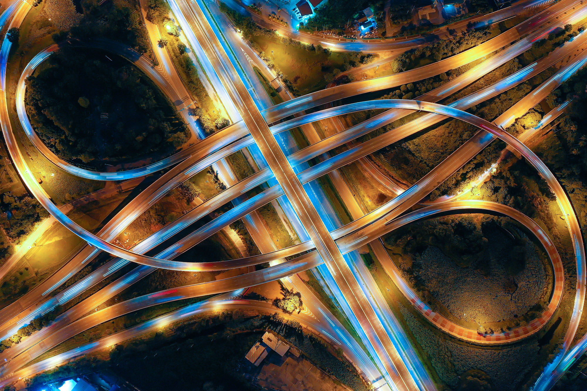 roadway interchange representing lunavi helping you navigate your digital transformation