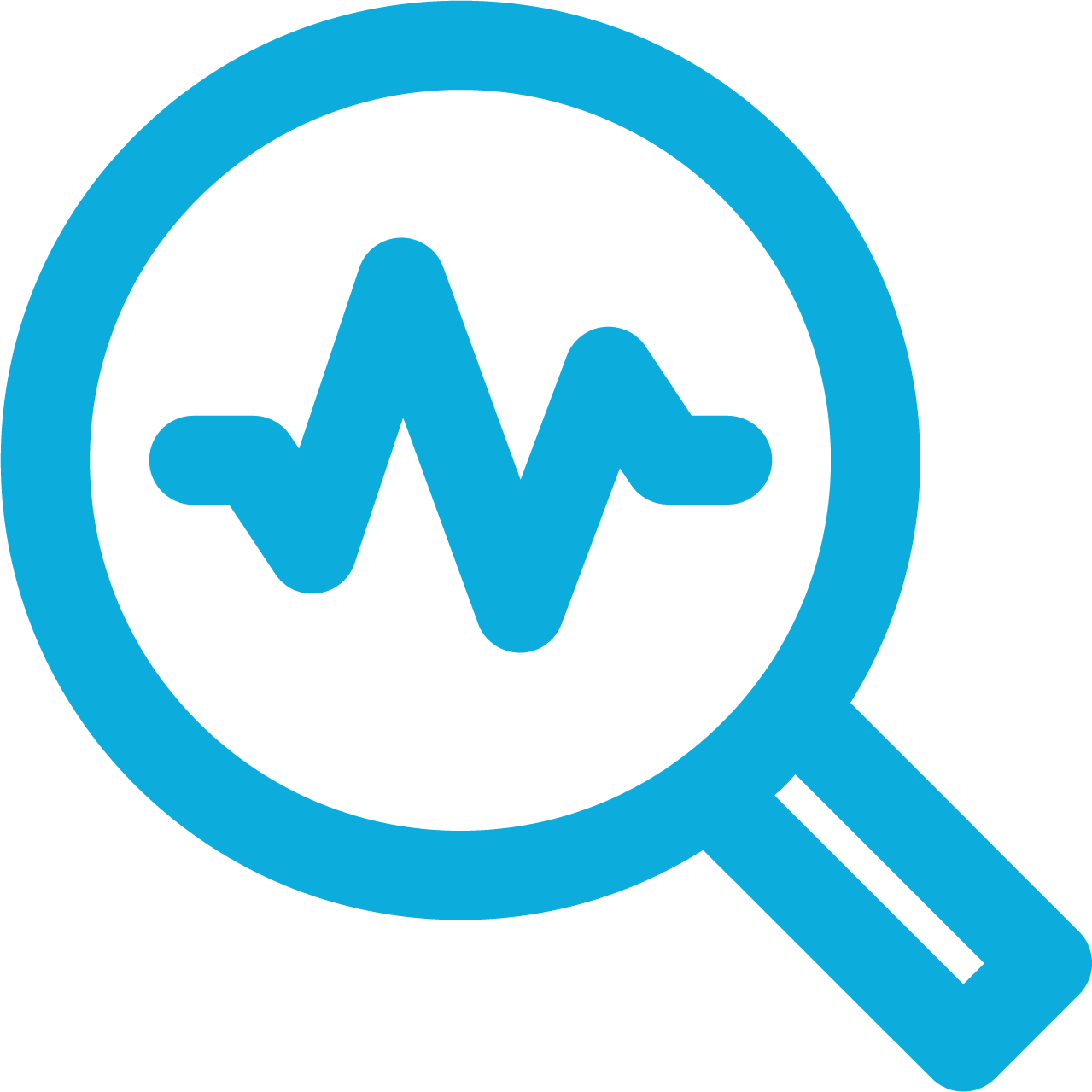 IT monitoring and search icon