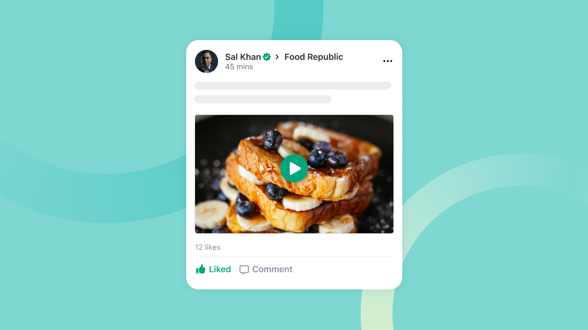 Amity Social Feature Video Posts