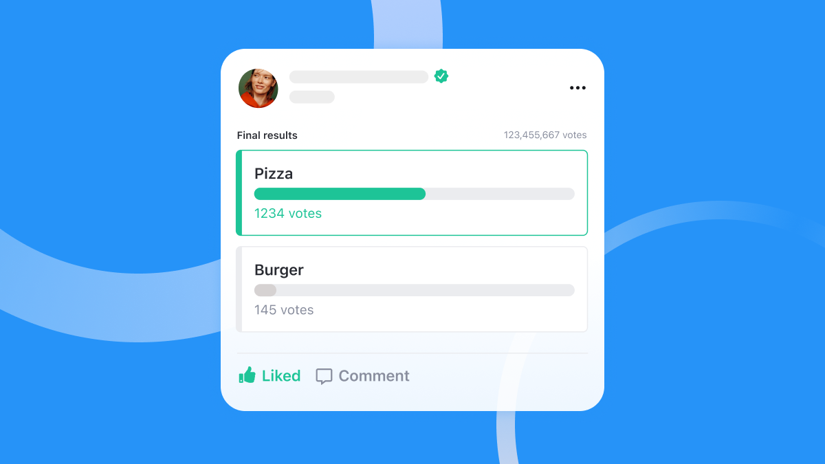 Allow users to interact and engage by creating polls and vote