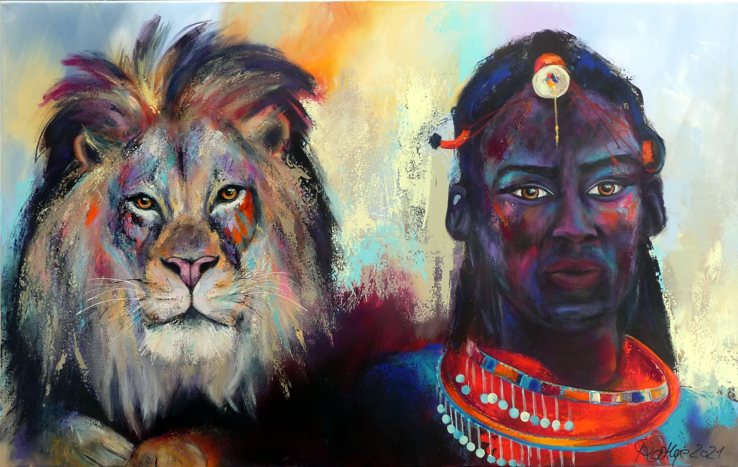 "Motiv: ""Lion&Massai """