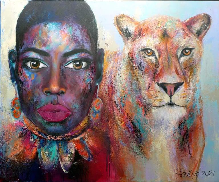 "Motiv: ""wirh the heart of a lioness"""