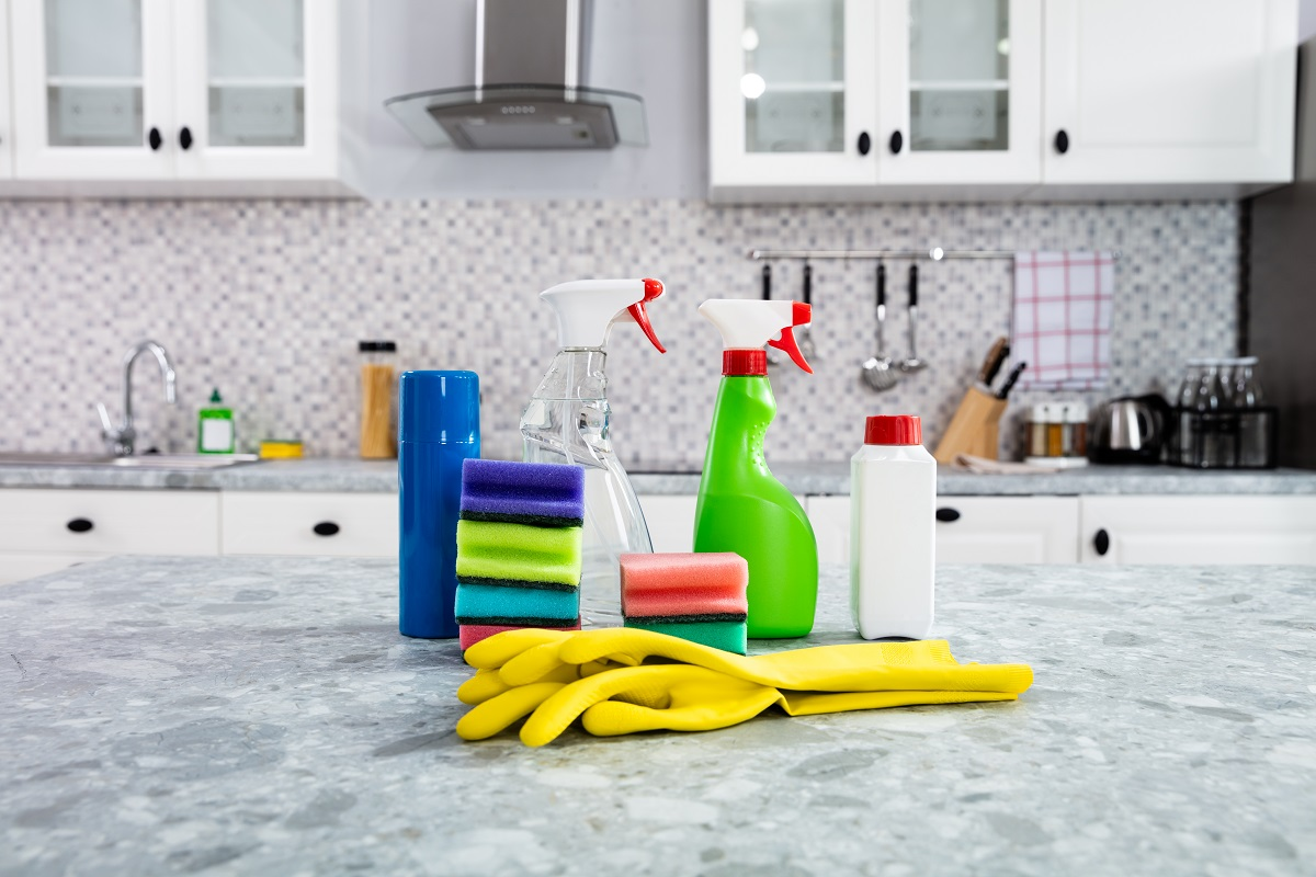 cleaning products for countertop maintenance