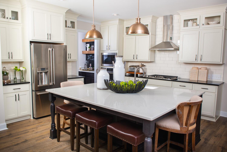 Bistro white cabinets project