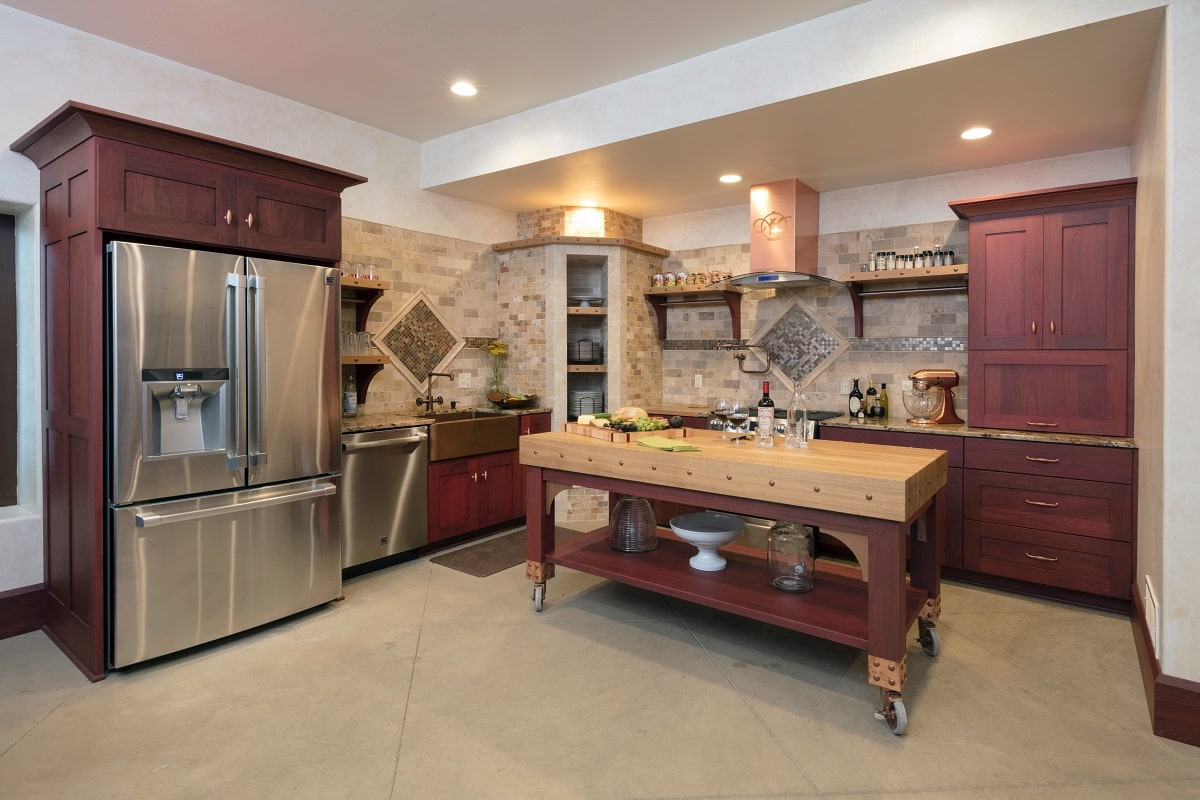 Knotty Alder Wood Cabinets