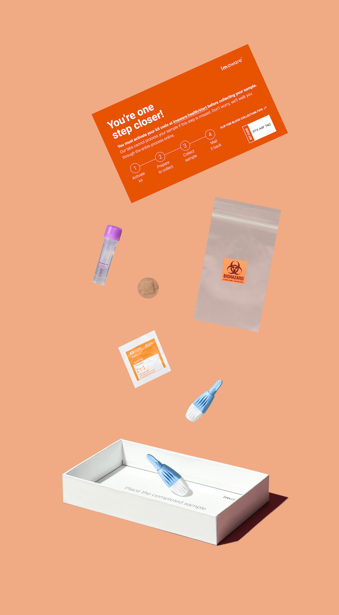 A product box and its contents