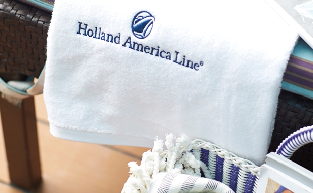 Holland America Line branded plush towel