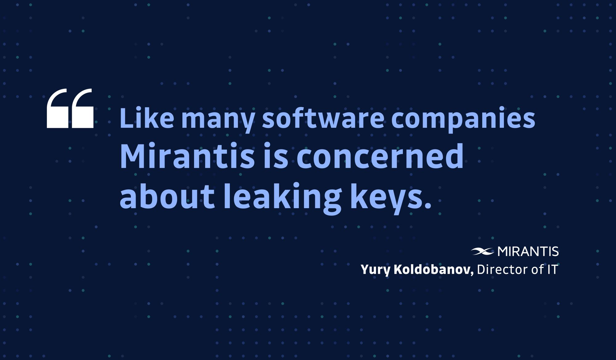CISO Live - Yury Koldobanov from Mirantis