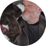 Avatar of dog licking owners face