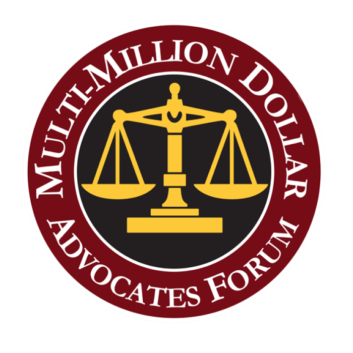 Multi-Million Dollar Advocates Forum award for personal injury lawyers