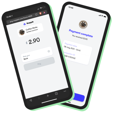 Payment complete screens