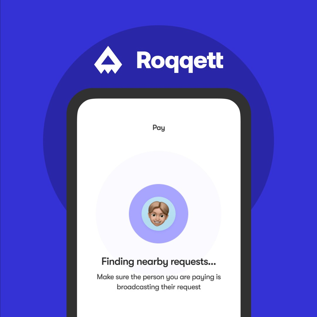 Everyone can take contactless payments with Roqqett.� � Just get them to open our app and search for nearby payment requests. Simple. 💸� � #PayBetter 🚀
