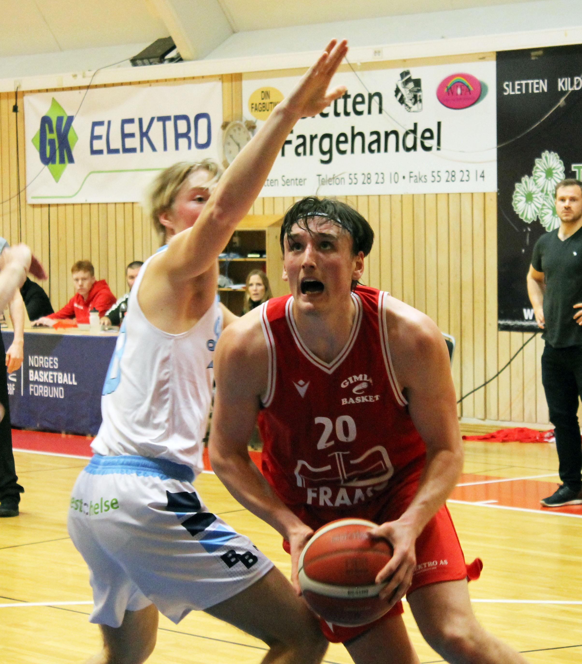 Eivind Lamo ble toppscorer med 19 poeng mot Bærum, men måtte ut med fem feil.