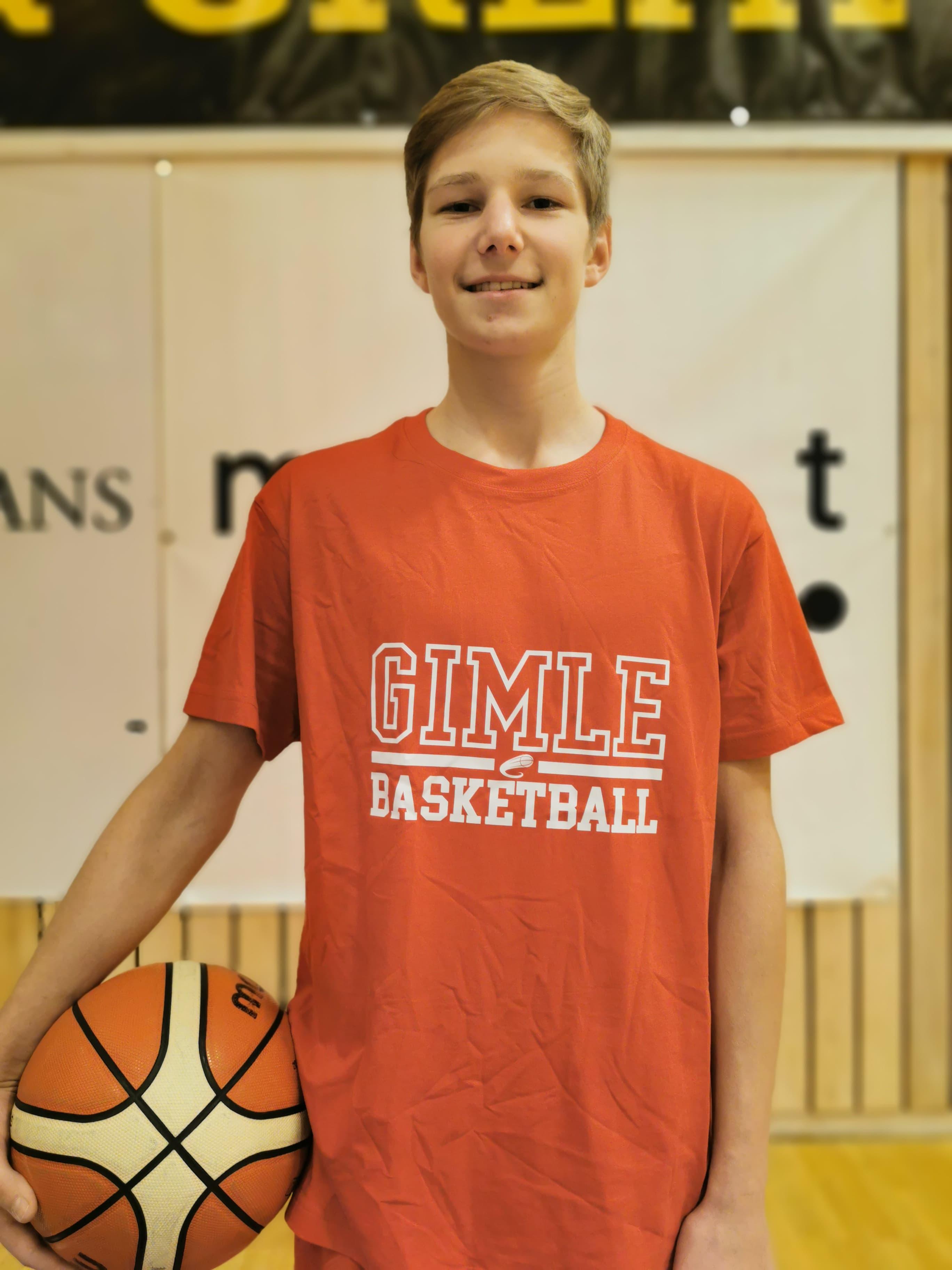 Med smilet på lur er Henrikas Sienogalis en av Gimles mest treningsvillige spillere.