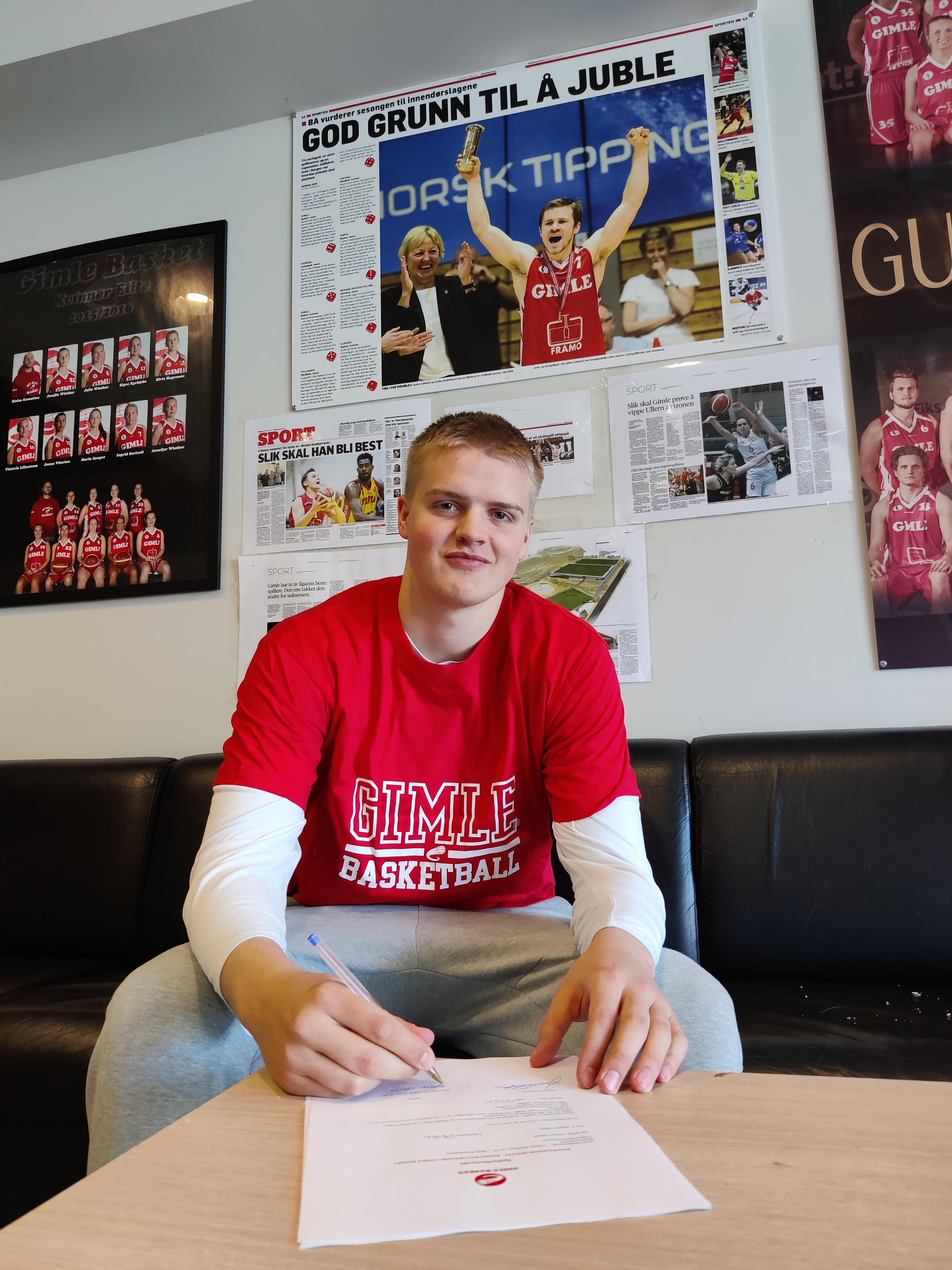 Jørgen Odfjell er klar for en ny sesong for Gimle Basket.