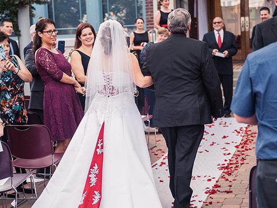 Wedding photo by Amanda Lauren Photography