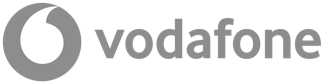 Logo of Vodafone, large telco company