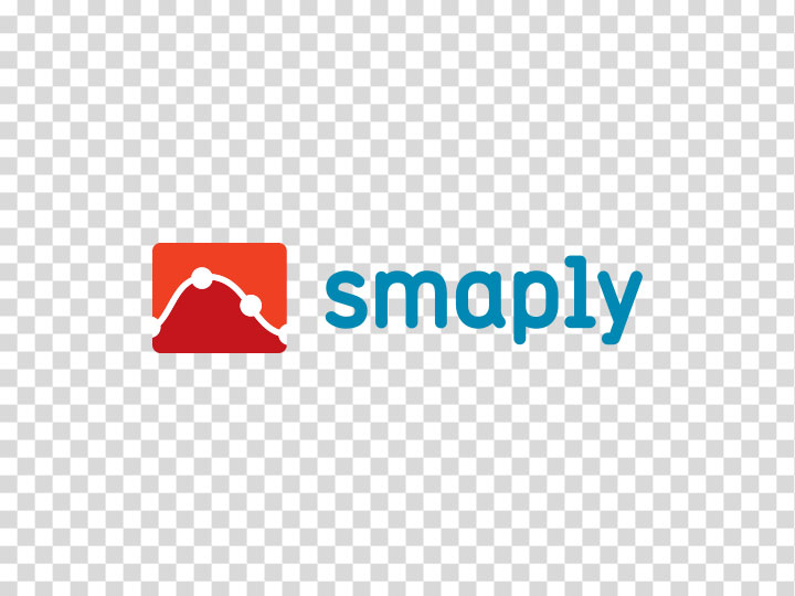 Smaply logo of a checkered background to indicate transparent file formats