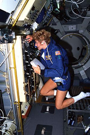 Millie aboard the SLS-1.