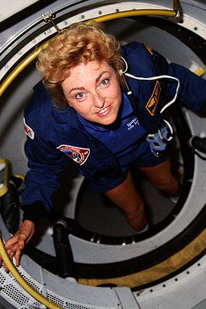 Millie aboard the SLS-1