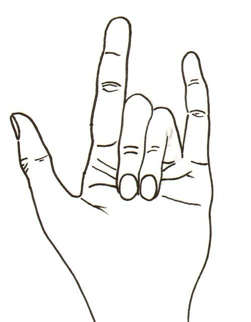 """""""I love you"""" in ASL."""